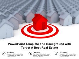 Powerpoint Template And Background With Target A Best Real Estate