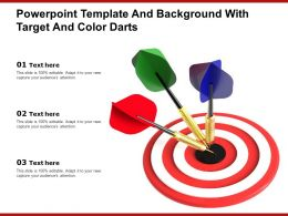 Powerpoint Template And Background With Target And Color Darts