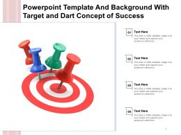 Powerpoint Template And Background With Target And Dart Concept Of Success