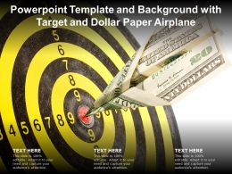 Powerpoint Template And Background With Target And Dollar Paper Airplane