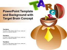 Powerpoint Template And Background With Target Brain Concept