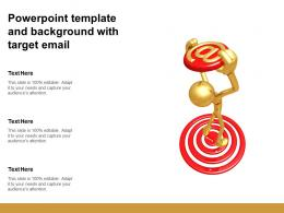 Powerpoint Template And Background With Target Email