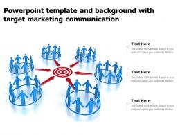 Powerpoint Template And Background With Target Marketing Communication