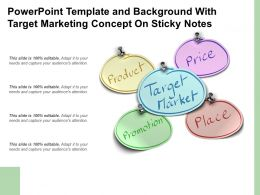 Powerpoint Template And Background With Target Marketing Concept On Sticky Notes