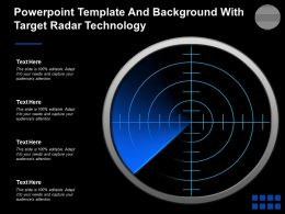 Powerpoint Template And Background With Target Radar Technology