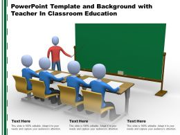 Powerpoint Template And Background With Teacher In Classroom Education