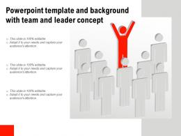 Powerpoint Template And Background With Team And Leader Concept
