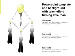 Powerpoint Template And Background With Team Effort Turning Little Man