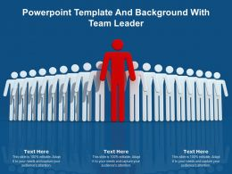 Powerpoint Template And Background With Team Leader