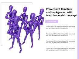 Powerpoint Template And Background With Team Leadership Concept