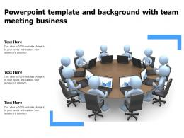 Powerpoint Template And Background With Team Meeting Business