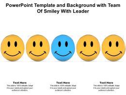 Powerpoint Template And Background With Team Of Smiley With Leader