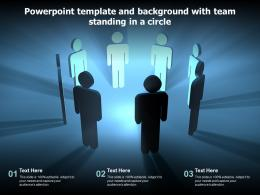 Powerpoint Template And Background With Team Standing In A Circle