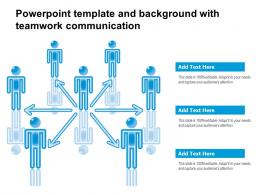 Powerpoint Template And Background With Teamwork Communication