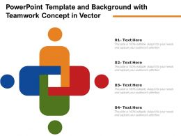 Powerpoint Template And Background With Teamwork Concept In Vector