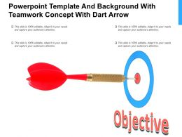 Powerpoint Template And Background With Teamwork Concept With Dart Arrow