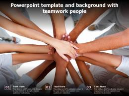 Powerpoint Template And Background With Teamwork People
