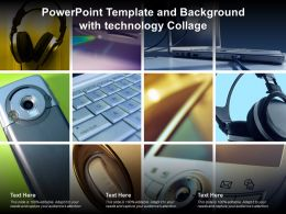 Powerpoint Template And Background With Technology Collage