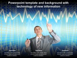 Powerpoint Template And Background With Technology Of New Information