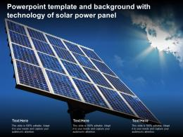 Powerpoint Template And Background With Technology Of Solar Power Panel