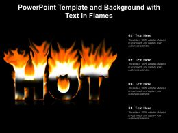 Powerpoint Template And Background With Text In Flames