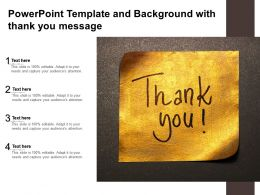 Powerpoint Template And Background With Thank You Message