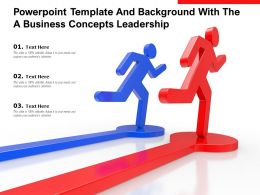 Powerpoint Template And Background With The A Business Concepts Leadership
