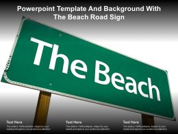Powerpoint Template And Background With The Beach Road Sign