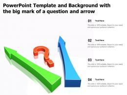 Powerpoint Template And Background With The Big Mark Of A Question And Arrow