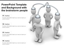 Powerpoint Template And Background With The Brainstorm People