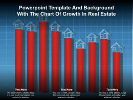 Powerpoint Template And Background With The Chart Of Growth In Real Estate