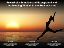 Powerpoint Template And Background With The Dancing Woman In The Sunset Nature
