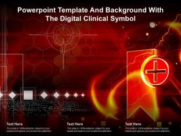 Powerpoint Template And Background With The Digital Clinical Symbol