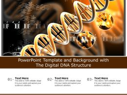 Powerpoint Template And Background With The Digital DNA Structure