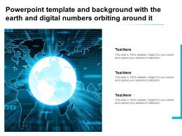 Powerpoint Template And Background With The Earth And Digital Numbers Orbiting Around It