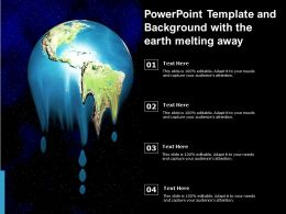 Powerpoint Template And Background With The Earth Melting Away
