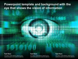 Powerpoint Template And Background With The Eye That Shows The Vision Of Information