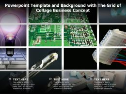 Powerpoint Template And Background With The Grid Of Collage Business Concept