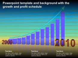 Powerpoint Template And Background With The Growth And Profit Schedule