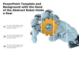Powerpoint Template And Background With The Hand Of The Abstract Robot Holds A Gear
