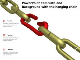 Powerpoint Template And Background With The Hanging Chain