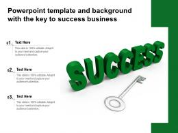 Powerpoint Template And Background With The Key To Success Business