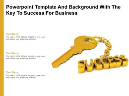 Powerpoint Template And Background With The Key To Success For Business