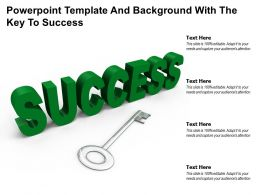 Powerpoint Template And Background With The Key To Success