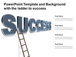 Powerpoint Template And Background With The Ladder To Success