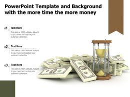 Powerpoint Template And Background With The More Time The More Money