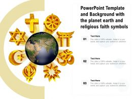 Powerpoint Template And Background With The Planet Earth And Religious Faith Symbols