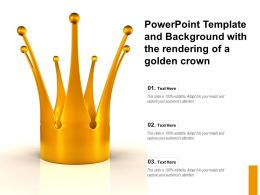 Powerpoint Template And Background With The Rendering Of A Golden Crown