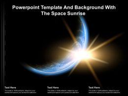 Powerpoint Template And Background With The Space Sunrise Ppt Powerpoint