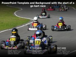 Powerpoint Template And Background With The Start Of A Go Kart Race